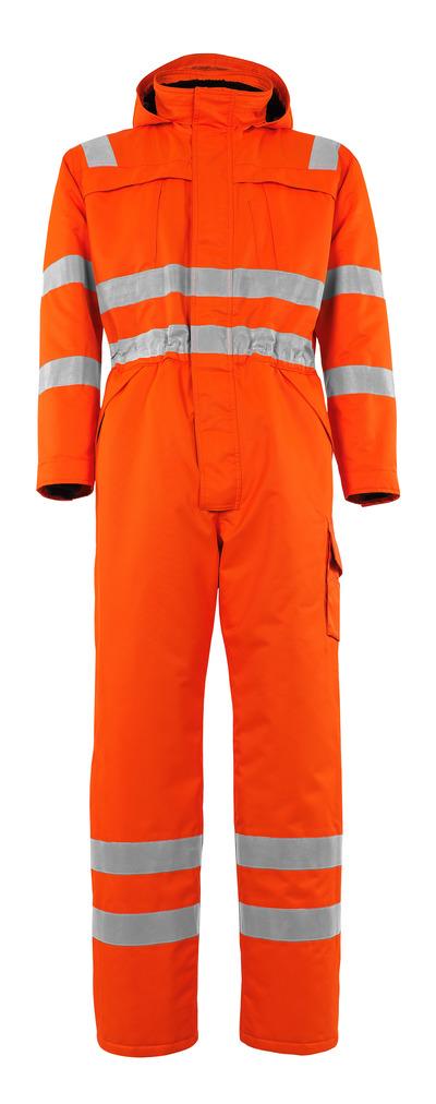 MASCOT® Tombos - hi-vis orange - Vinterkedeldragt med pelsfór, vandtæt MASCOTEX®, kl. 3