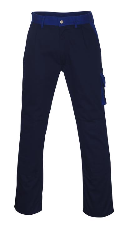 MASCOT® Torino - marine/kobolt - Bukser med knælommer, høj slidstyrke