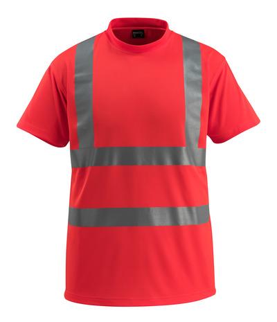 MASCOT® Townsville - hi-vis rød - T-shirt, klassisk pasform, kl. 2