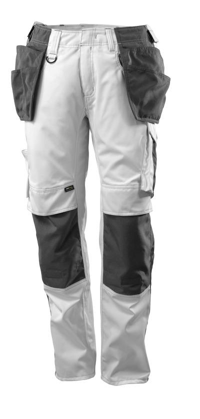 MASCOT® UNIQUE - hvid/mørk antracit - Bukser med CORDURA®-knæ- og hængelommer, lav vægt