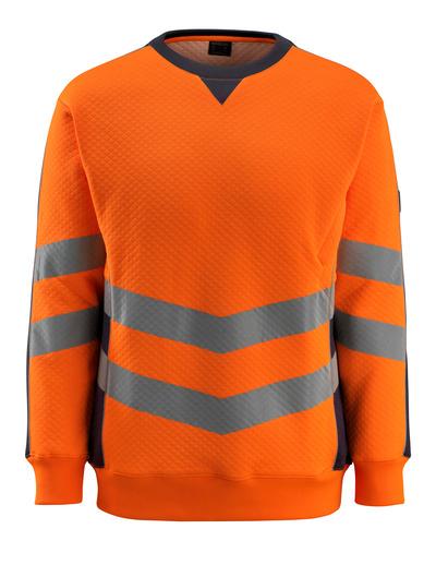 MASCOT® Wigton - hi-vis orange/mørk marine - Sweatshirt, moderne pasform, kl. 3
