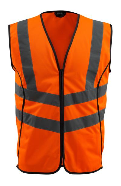 MASCOT® Wingate - hi-vis orange - Trafikvest med lynlås, kl. 2
