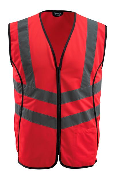 MASCOT® Wingate - hi-vis rød - Trafikvest med lynlås, kl. 2