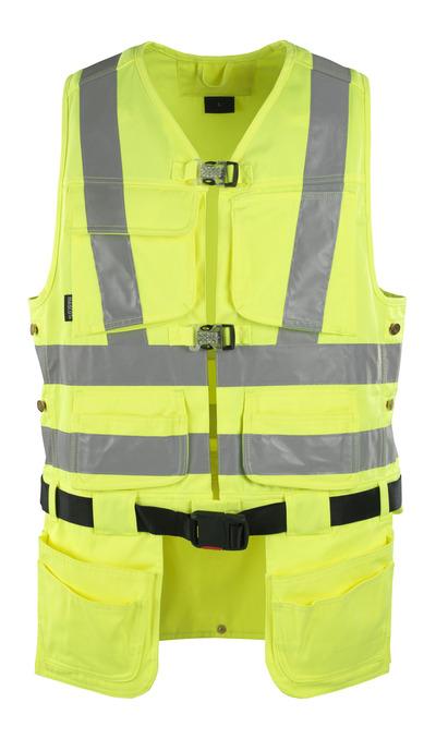 MASCOT® Yorkton - hi-vis gul - Værktøjsvest med fire hængelommer, kl. 2/2