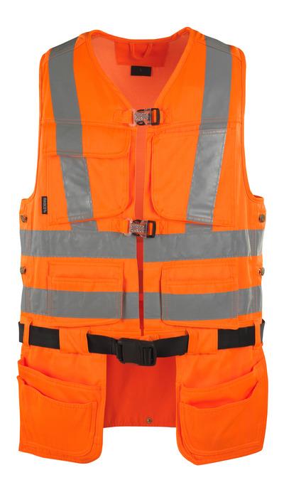 MASCOT® Yorkton - hi-vis orange - Værktøjsvest med fire hængelommer, kl. 2/2