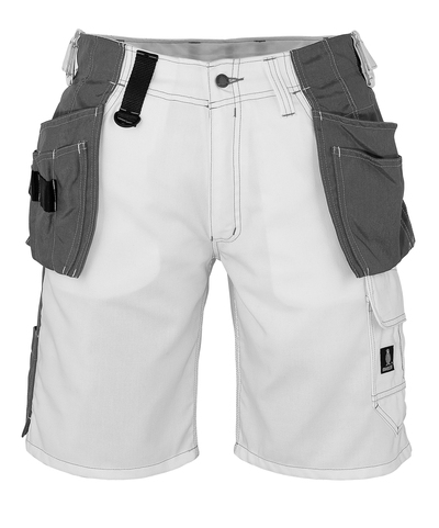 MASCOT® Zafra - hvid - Shorts med CORDURA®-hængelommer, lav vægt