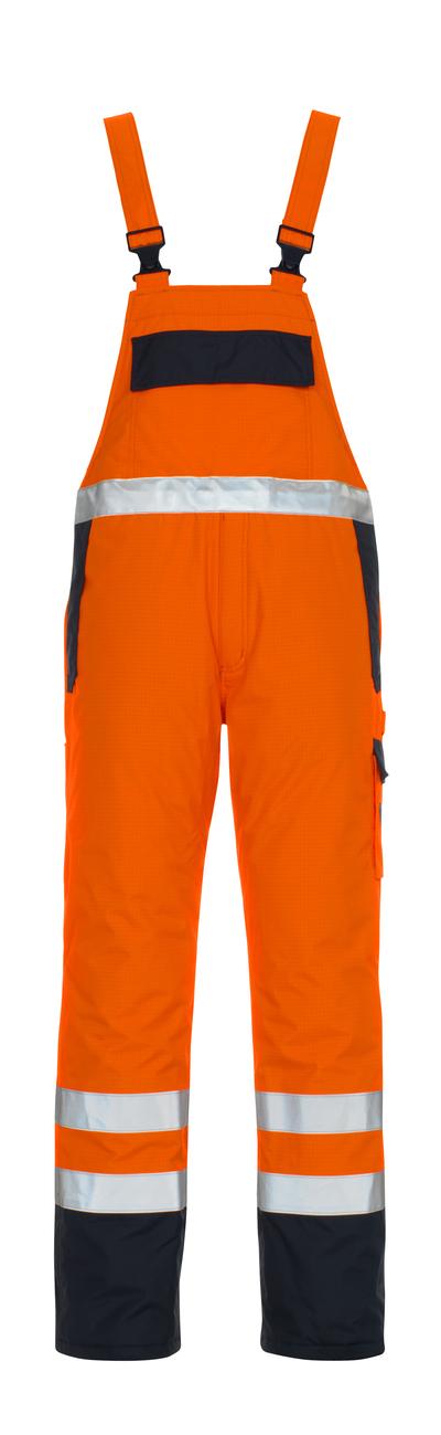 MASCOT® Zug - hi-vis orange/marine - Overall med fór, multibeskyttelse, vandtæt, kl. 2/2